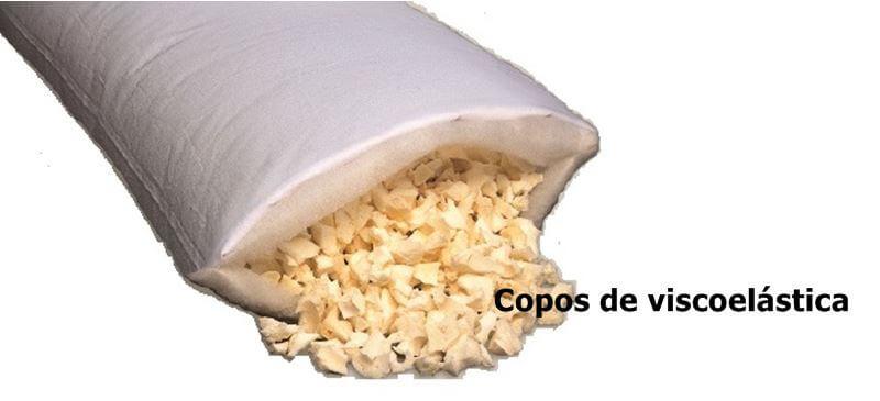 Copos de visco de una almohada