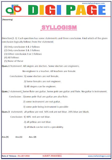 Digi Page - Syllogism