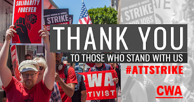40,000 AT&T Workers were on strike last weekend. CWA thanks our strike supporters!