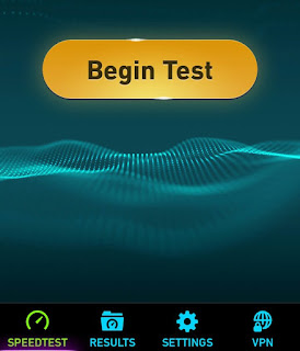 Begin speed test