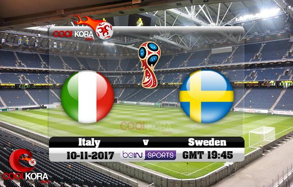 مشاهدة مباراة السويد وإيطاليا اليوم 10-11-2017 تصفيات كأس العالم