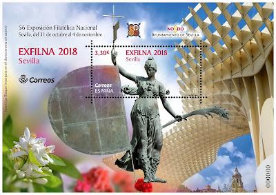 Exfilna 2018 - Sevilla  - Hoja Bloque