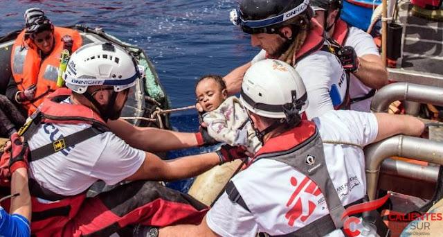 Rescatan a 263 migrantes , hay 11 muertos