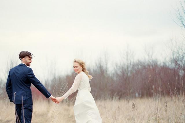 Plener ślubny na wiosnę.