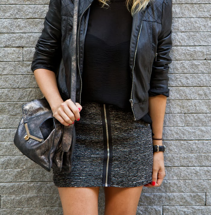 Vancouver Fashion Blogger, Alison Hutchinson, in New York at the Met, Times Square and Madison Ave, wearing an Aritzia Cap, Zara Top, Forever 21 black leather jacket, Aritzia skirt with zipper detail, Topshop black ankle boots and a Botkier Valentina bag