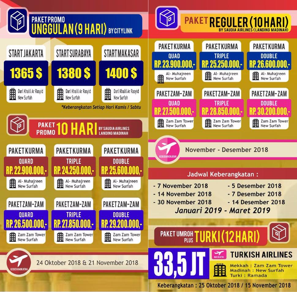 Travel Dakwah Wisata Jadwal Umroh 2018