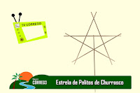 TV CÓRREGO - Estrela de palitos de churrasco