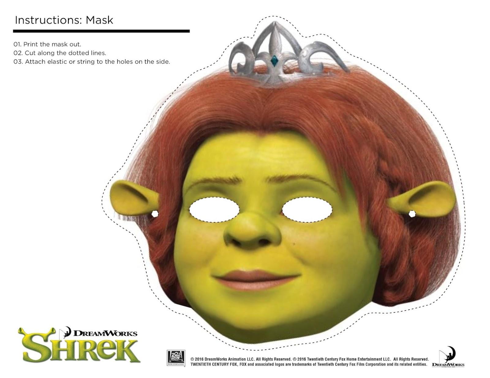 Shrek Photo Booth Props + Print Free Printable Shrek Mask - Fun Things ...