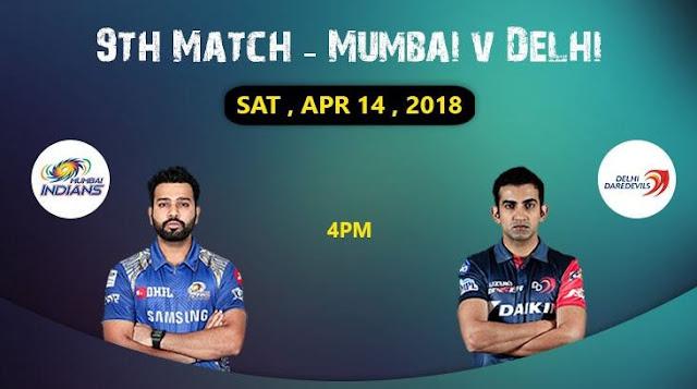 Mumbai Indians vs Delhi Daredevils IPL 2018