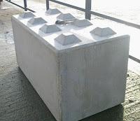 Barrira cemento tipo mattone