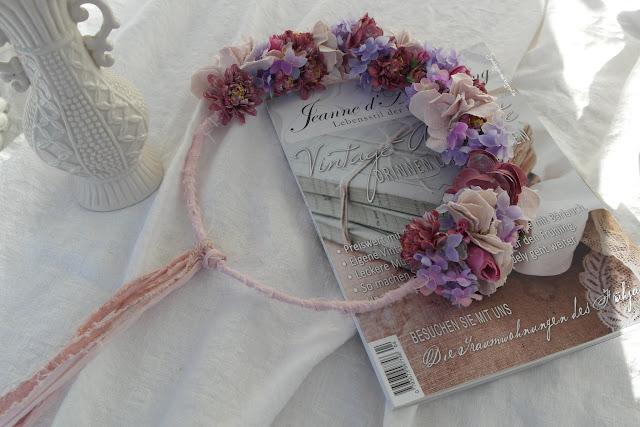 Shabby chic Blütenkranz