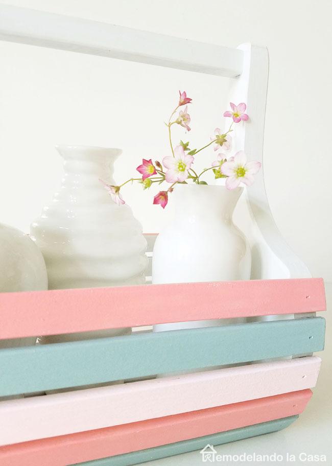 A drab little wooden basket flea market find is transformed with paint