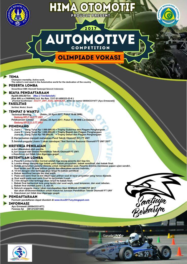 Lomba Automotive Competition 2017 Untuk SMK