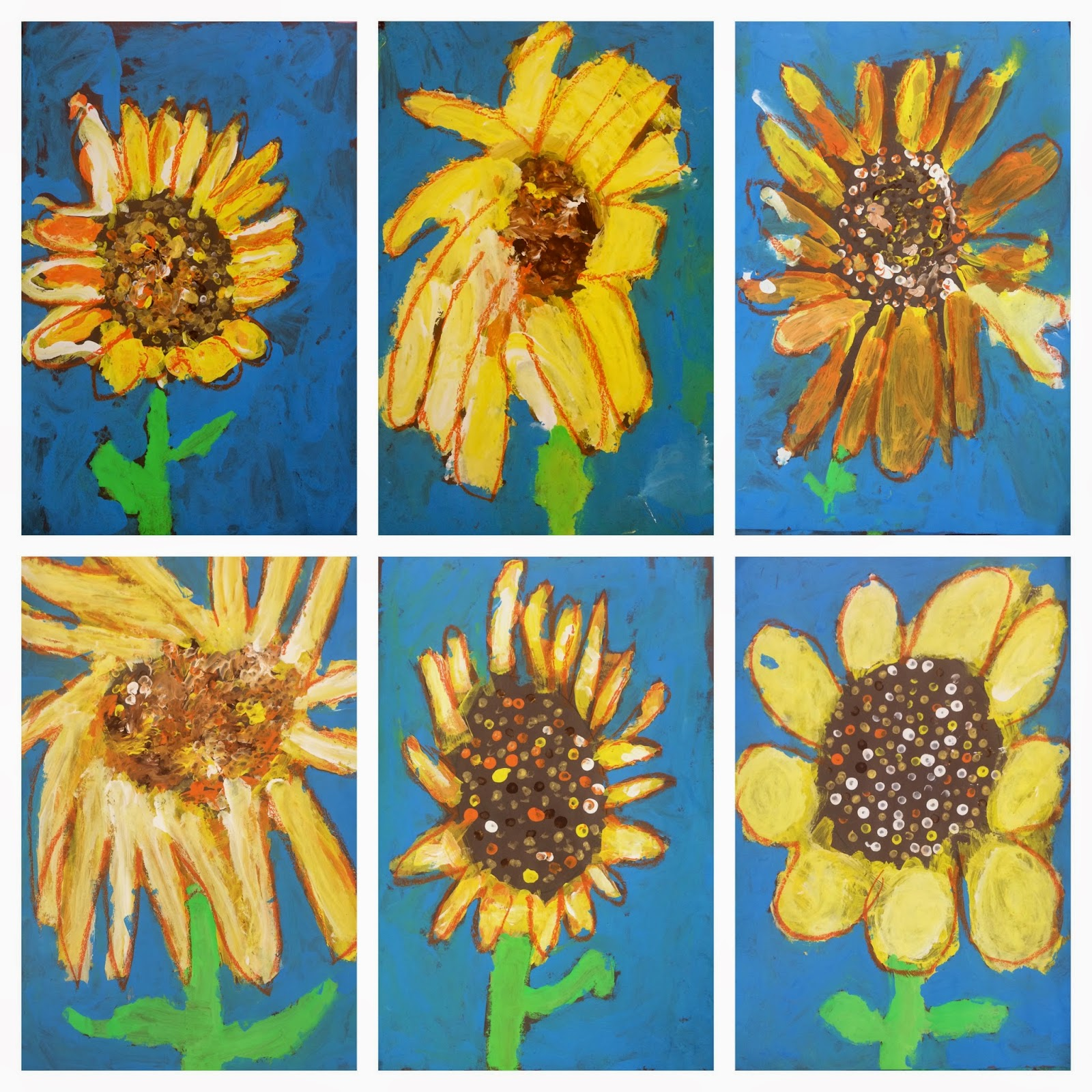 Art Eat Tie Dye Repeat 1st Grade Sunflowers