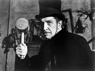 Vincent Price en una secuencia de La comedia de los terrores.