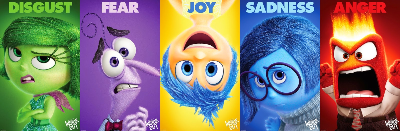 Inside Out Character Profiles Anger Joy Disgust Fear And Sadness Updated Pixar Post