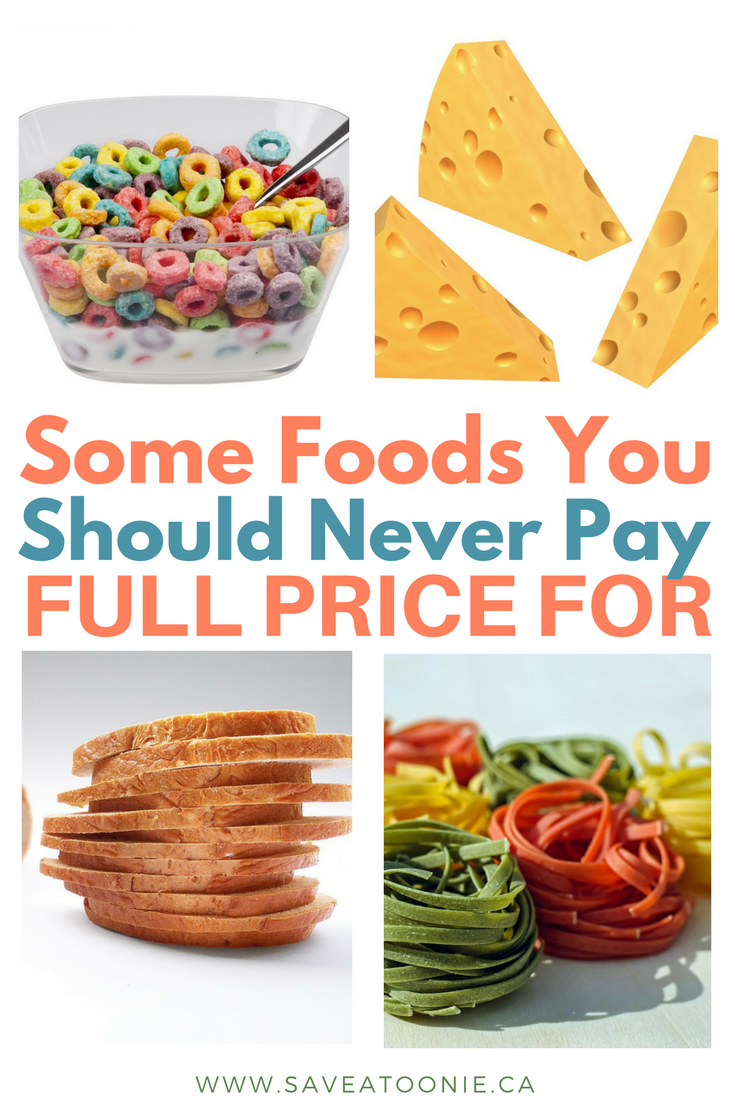Foods You Should Never Pay Full Price For