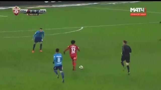 Luiz Adriano brilliant team goal for Spartak Moscow vs Zenit