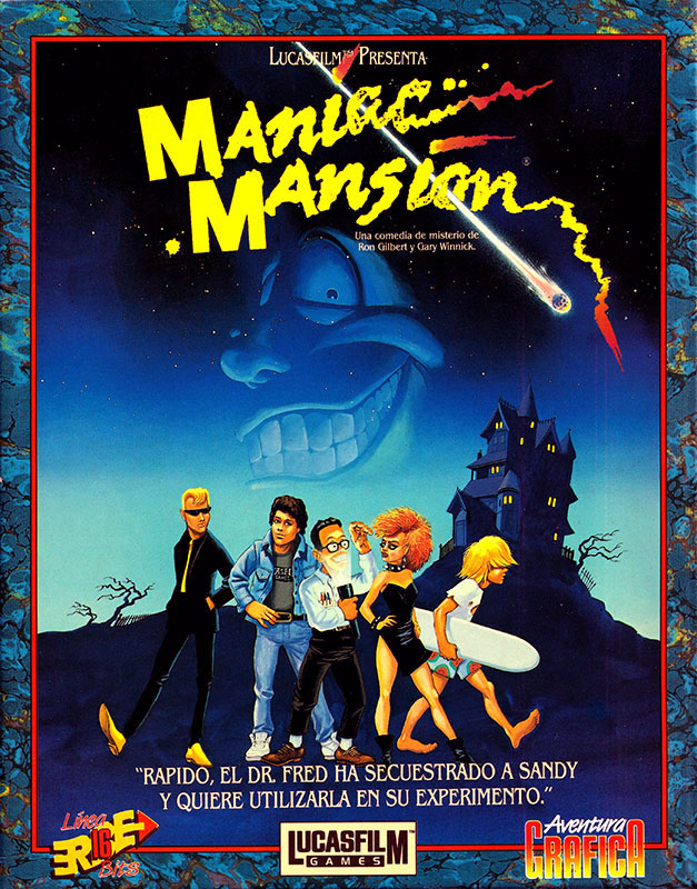 Maniac Mansion Caja delantera