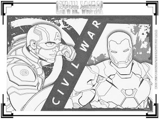 captain america civil war colouring picture