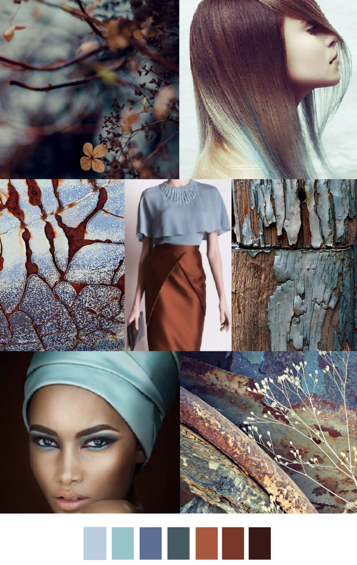 TRENDS // PATTERN CURATOR . PRINT, PATTERN + COLOR - AUTUMN BLUES/CINNAMON CHAI