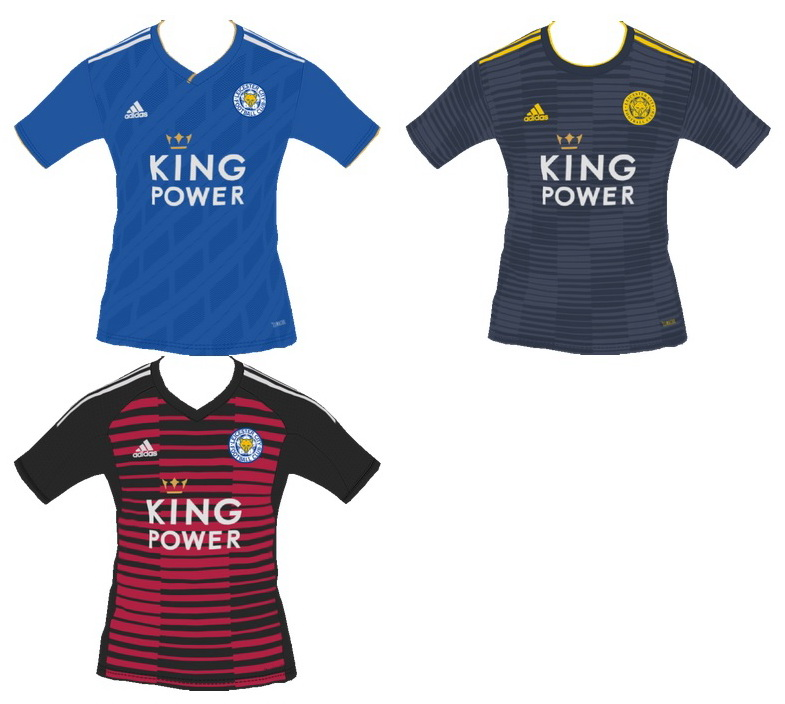 PES 2018 Leicester City 2018-2019 Home-Away-Gk Kits by tekask1903