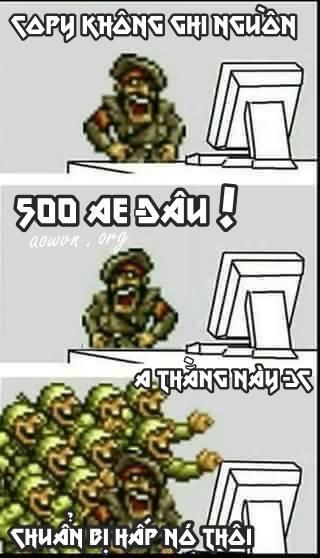 copy ko ghi nguon aowvn - [ Quà Tặng ] Ảnh Chế để Comment Facebook chỉ có tại AowVN.org | Gói Thứ Nhất