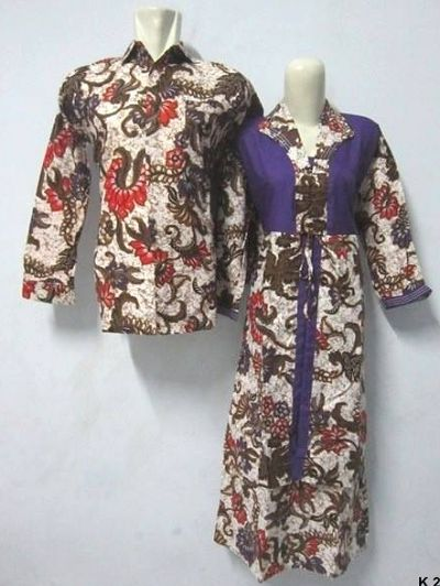 Desain Baju Gamis Batik Modern Couple | Model Baju Batik ...