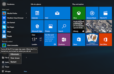 Hibernate Windows 10