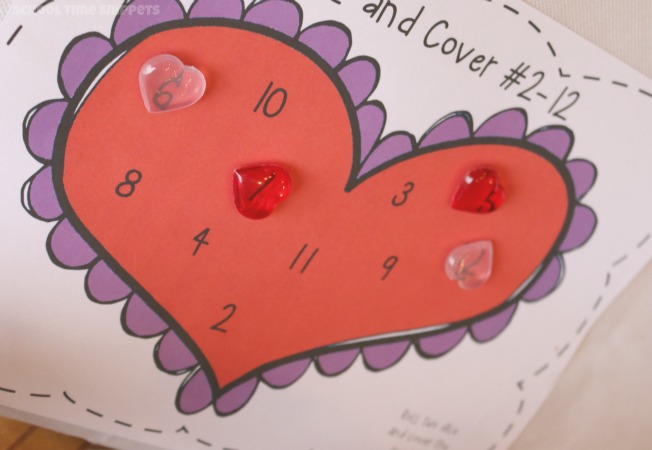 valentines preschool math game