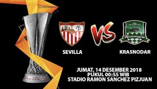 Prediksi Bola Sevilla vs Krasnodar 14 Desember 2018
