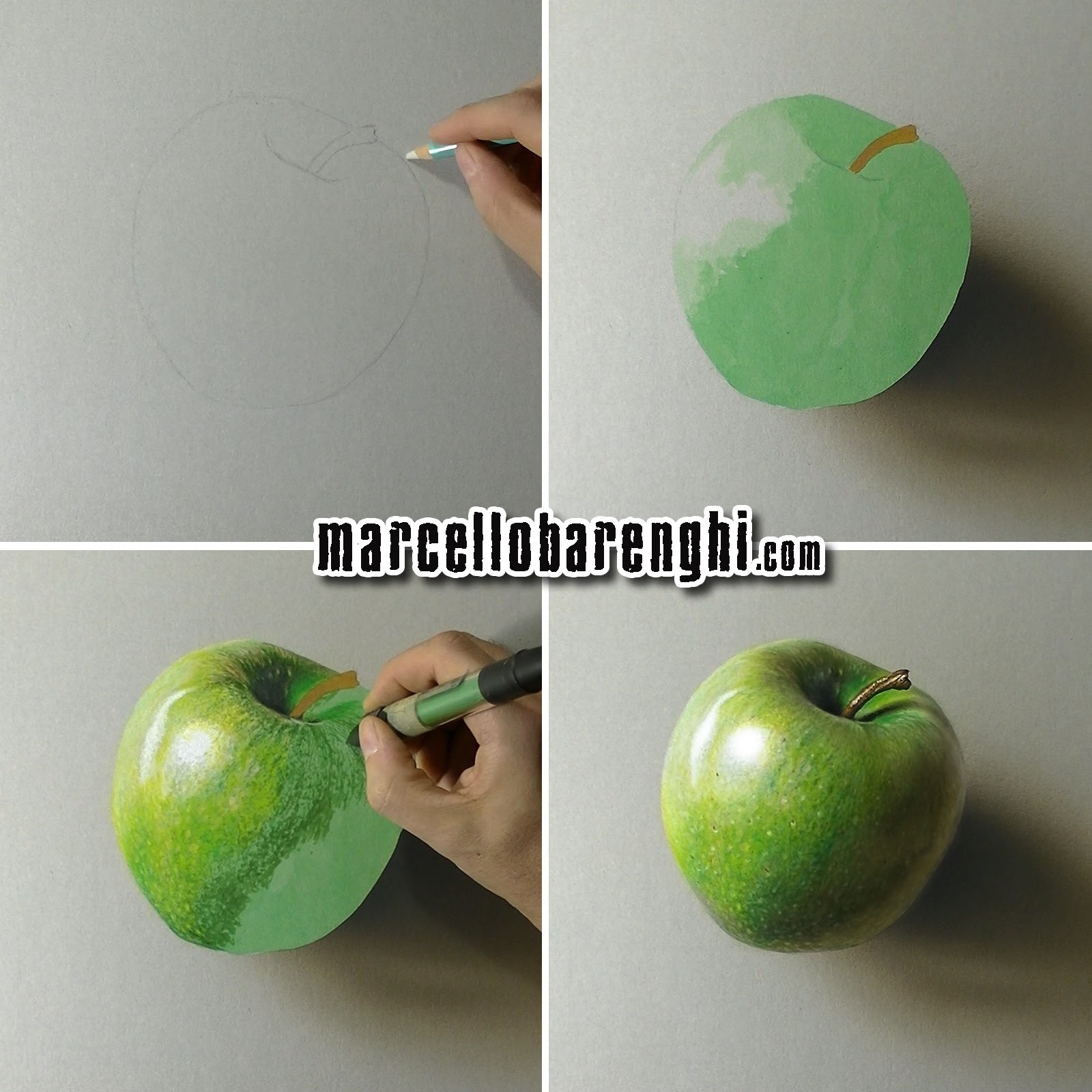 green apple fruit drawing. a green apple - drawing (i have pen, i #ppap) marcello barenghi fruit