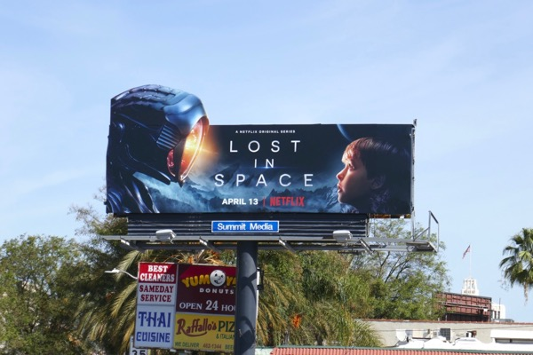Lost in Space Netflix series launch billboard