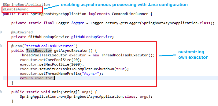 Spring Boot - Creating Asynchronous Methods using @Async Annotation