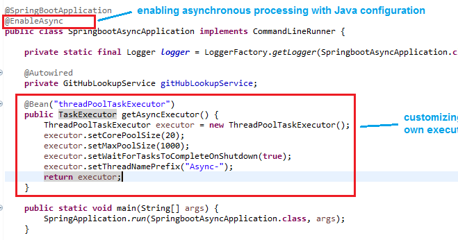 Spring Boot - Creating Asynchronous Methods using @Async