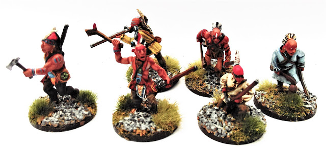 Iroquois warriors from Warlord Games
