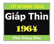 ử Vi Tuổi Giáp Thìn 1964 Năm 2018