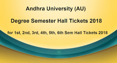 AU Degree Semester Hall Tickets 2018 Download