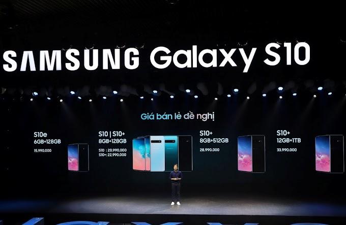 Giá bán chính thức điện thoại Samsung Galaxy S10 tại Việt Nam
