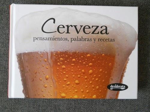 libro cerveza, pensamientos, palabras y recetas