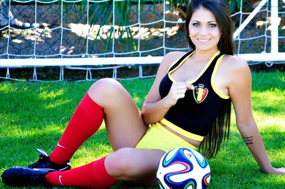 Belas do Mundial - Eduarda Amaral nas cores da Seleção Belga de Futebol