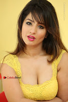 Cute Telugu Actress Shunaya Solanki High Definition Spicy Pos in Yellow Top and Skirt  0599.JPG