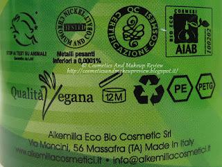 Alkemilla - Detergente intimo al Tea Tree - certificazioni