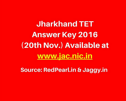 JAC TET Answer Key