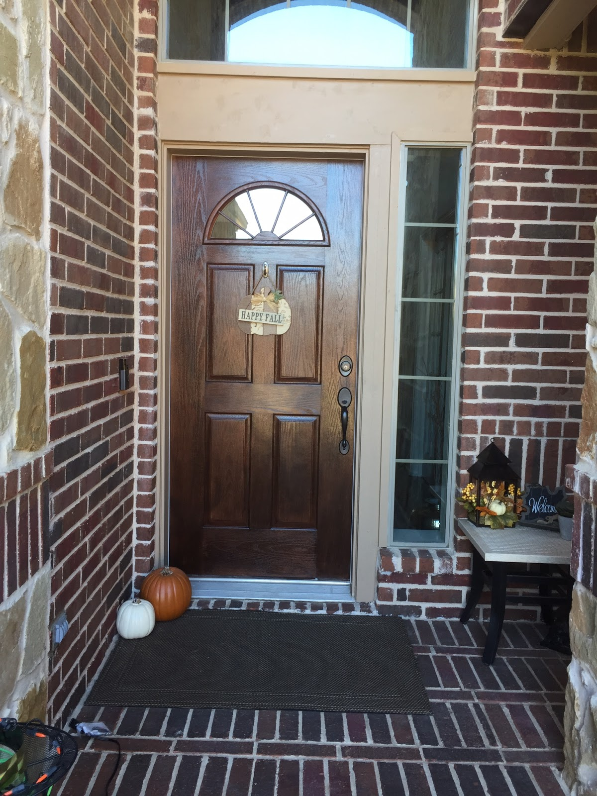 craftyc0rn3r: Gel Staining the Front Door and Spray ...