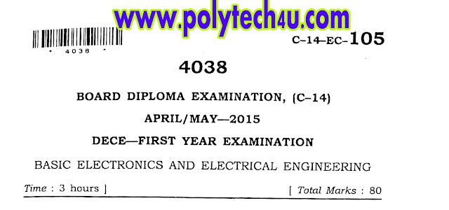 c-14 dece basic electrical engineering and electronics qp