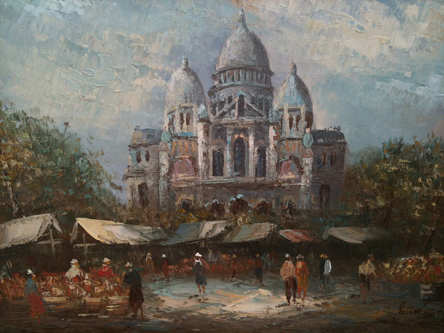 L. A. Burnett, The Basilica of the Sacred Heart of Paris (Montmartre)! 16 x 20 in.