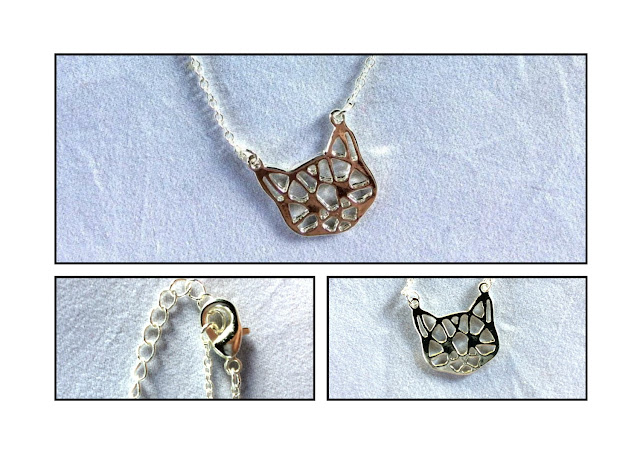 ANIMAUX ET CIE - Collier Chat Origami