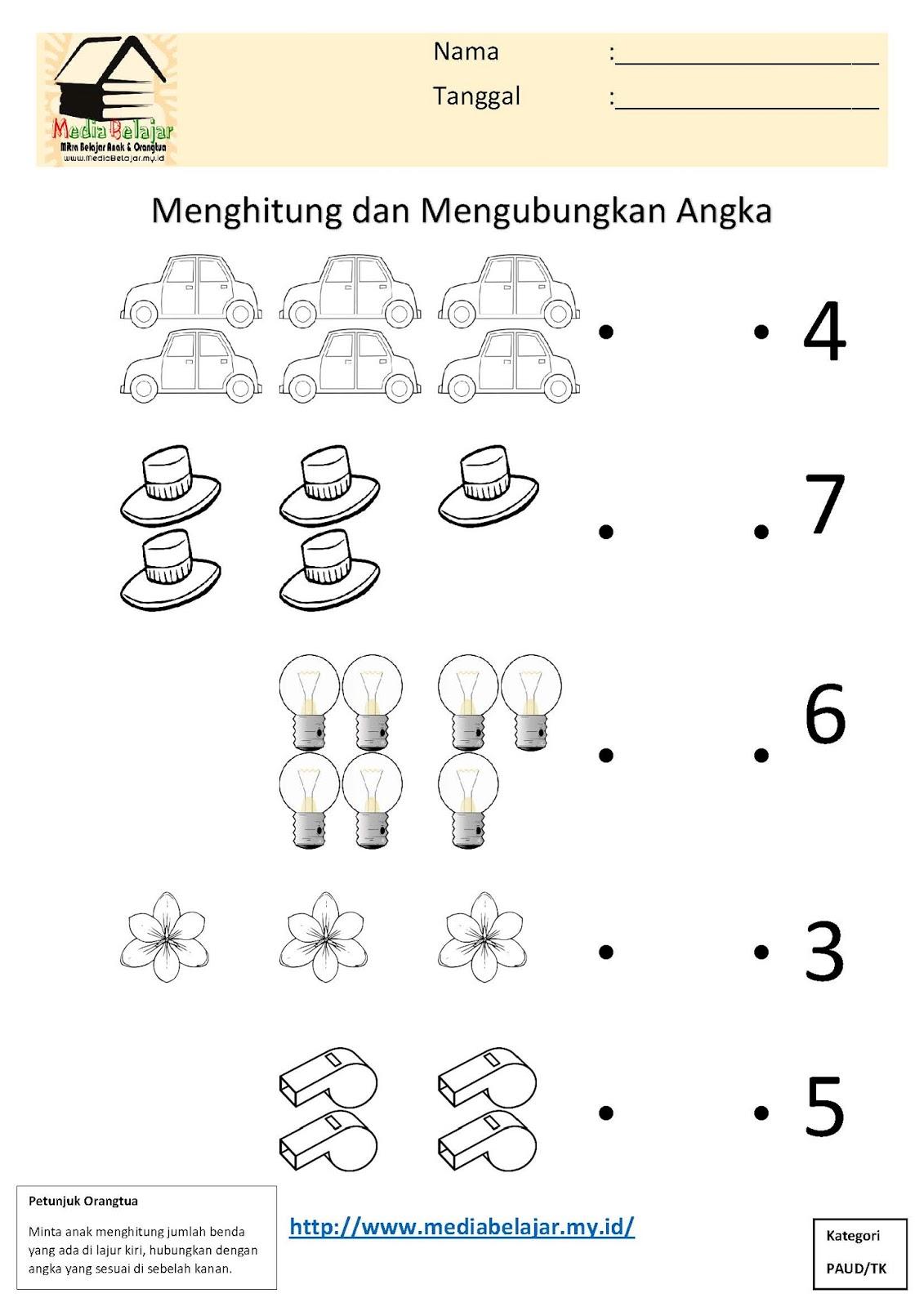 Menghitung Dan Menghubungkan Angka Bagian 5