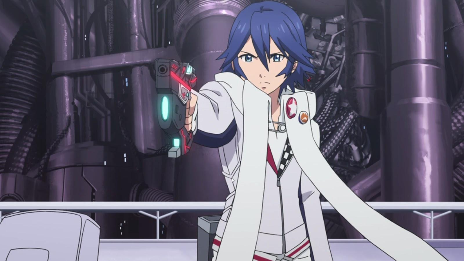 Anime Action Terbaik Gunslinger Stratos Tohru Kazasumi